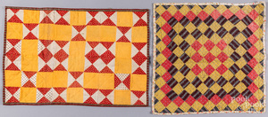 Two Pennsylvania patchwork doll quilts