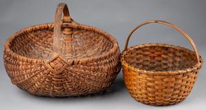 Two splint gathering baskets, 19th c.