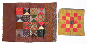 Pennsylvania patchwork pillow sham, early 20th c.