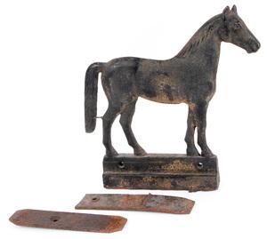 Dempster cast iron horse windmill weight, ca. 1900