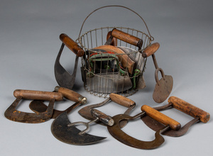 Collection of food choppers, 19th and 20th c.