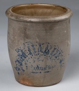 J. M. Harden, Paletine, WV stoneware crock