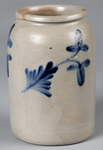 Mid-Atlantic stoneware jar, 19th c.