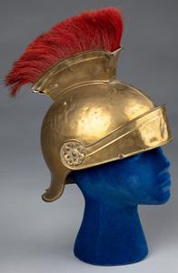 European brass helmet, 20th c.