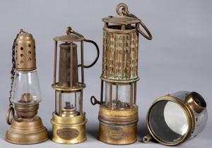 Four pieces of lighting, ca. 1900