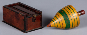 Polychrome painted toy top, ca. 1900