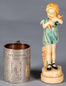 Gorham Little Jack Horner engraved child's mug