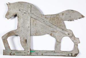 Painted sheet iron horse weathervane, 19th c.