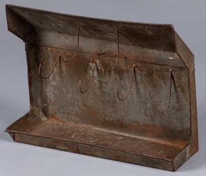 Pennsylvania tin bird spit, early 19th c.