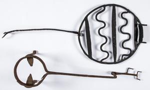 Large wrought iron trivet, ca. 1800, 17