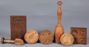 Group of woodenware, 19th c.