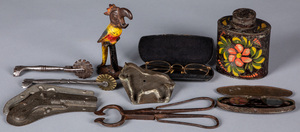 Miscellaneous metalware, 19th and 20th c.