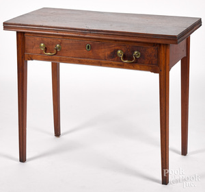 Pennsylvania Chippendale walnut games table