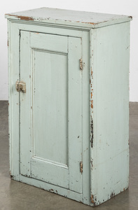 Painted pine cupboard, late 19th c.