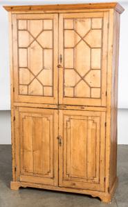 English pine cabinet, 19th c.