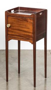 George III mahogany pot stand, ca. 1800