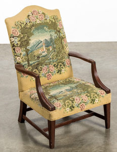 Federal style child's lolling chair.