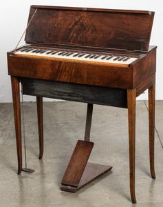 Victorian rosewood harpsichord, 30 1/2
