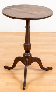 New England Federal cherry candlestand, ca. 1800