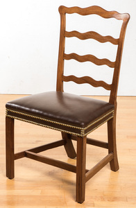 New England Chippendale mahogany dining chair