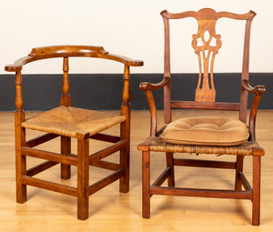 New England country Chippendale chairs