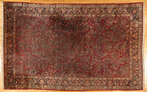 Sarouk carpet, ca. 1930, 18' x 11'.