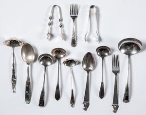 Sterling silver flatware and serving utensils