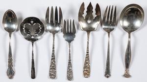 Sterling silver serving utensils, 18.9 ozt.