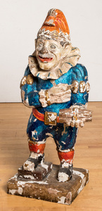 Carved and painted Punch tobacconist figure
