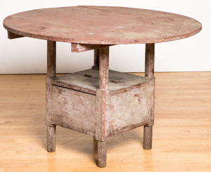 Painted chair table early 20th c.
