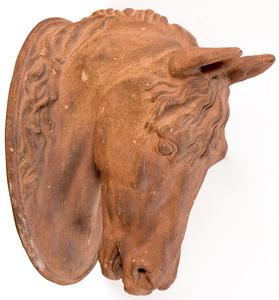 Terra Cotta horsehead plaque