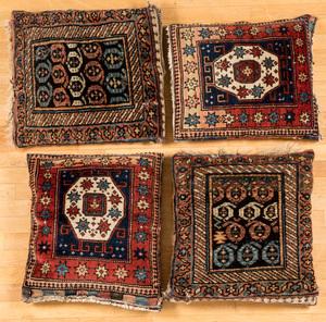 Four oriental bagface pillows