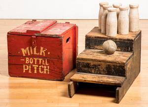 Carnival Milk Bottle Pitch set case