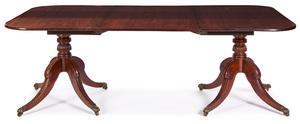 Regencymahogany double pedestal dining table