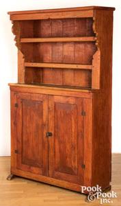 Scandinavian painted pine stepback cupboard