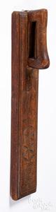 Scandinavian carved mangle board, late 18th c.