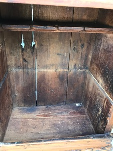Scandinavian painted pine hanging cupboard