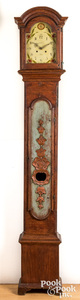 Scandinavian painted tall case clock, 19th c.