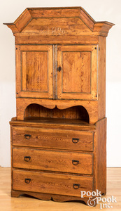 Scandinavian pine cupboard, dated 1836