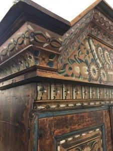 Scandinavian painted cupboard, dated 1831