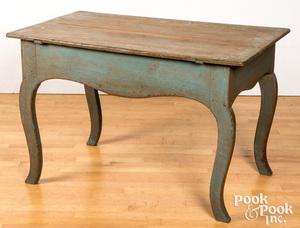 Scandinavian painted pine table, 19th c.