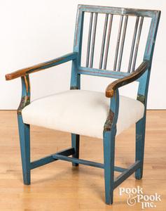 Scandinavian painted armchair, 19th c.