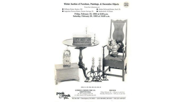 Winter Auction of Furniture, Paintings, & Decorative Objects