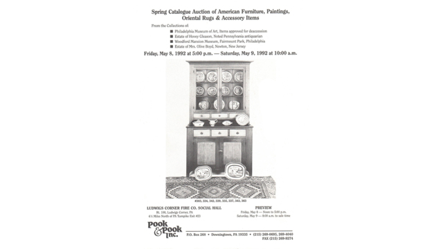 Spring Catalogue Auction of American Furniture, Paintings, Oriental Rugs, & Accessory Items