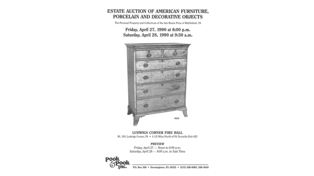 Estate Auction of American Furniture, Porcelain, and Decorative Objects