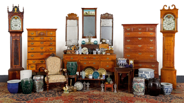 Furnishings and Decorative Items from the Home and Offices of Dr. Albert and Laura Barnes
